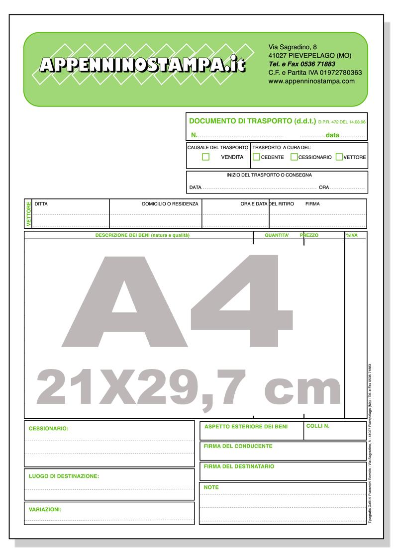 Fascicoli autocopianti A4