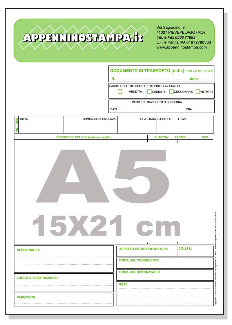 Fascicoli autocopianti A5
