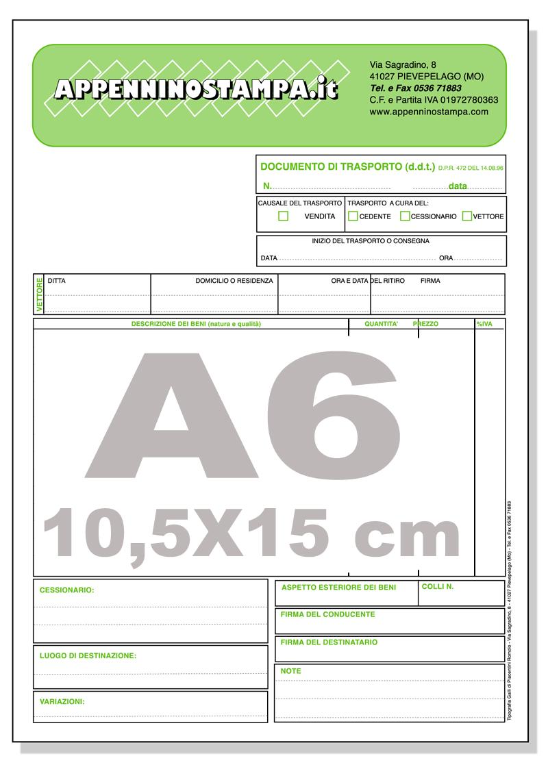 fascicoli autocopianti A6