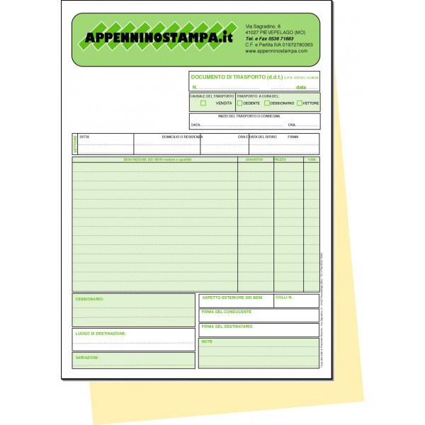 Fascicoli 2 copie in carta chimica A4